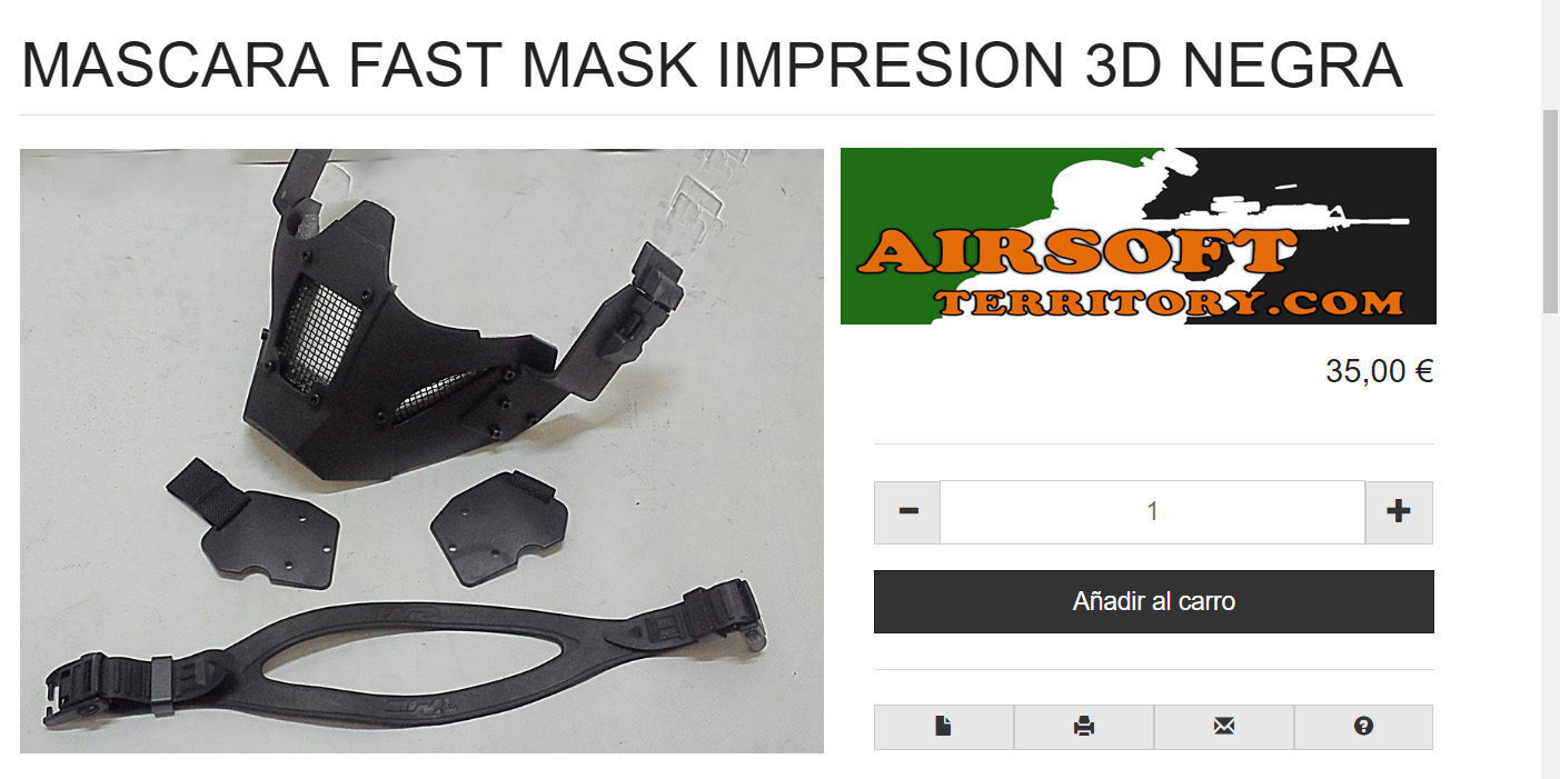 Airsoftterritory, Mask 3d Airsoft, JAY Design